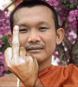 Monk Middle Finger