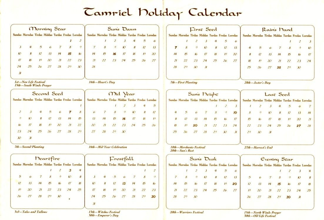 History Of Gregorian Calendar By Year History Of Our Calendar Calendars Webexhibits Calendar Of Tamriel The Imperial Library
