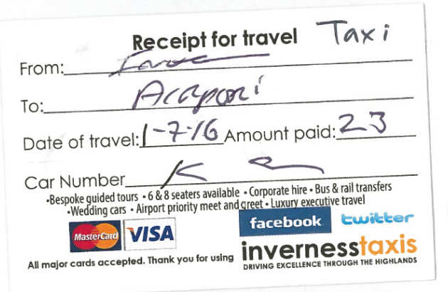 Receipt examples Administration and support services Imperial