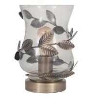 Antique Brass Hurricane Table Lamp - Imperial Lighting