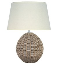 Natural Rattan Large Orb Table Lamp - Imperial Lighting