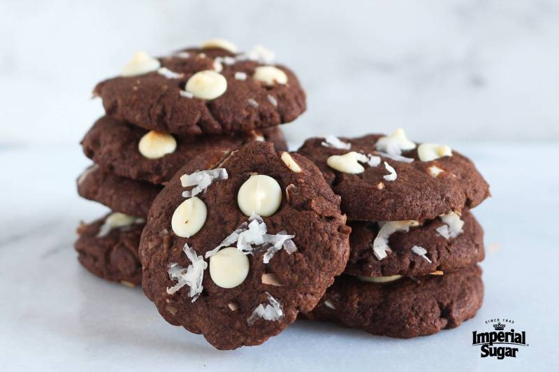 Large Of Chocolate Coconut Cookies
