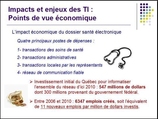 Impact économique du dossier santé électronique