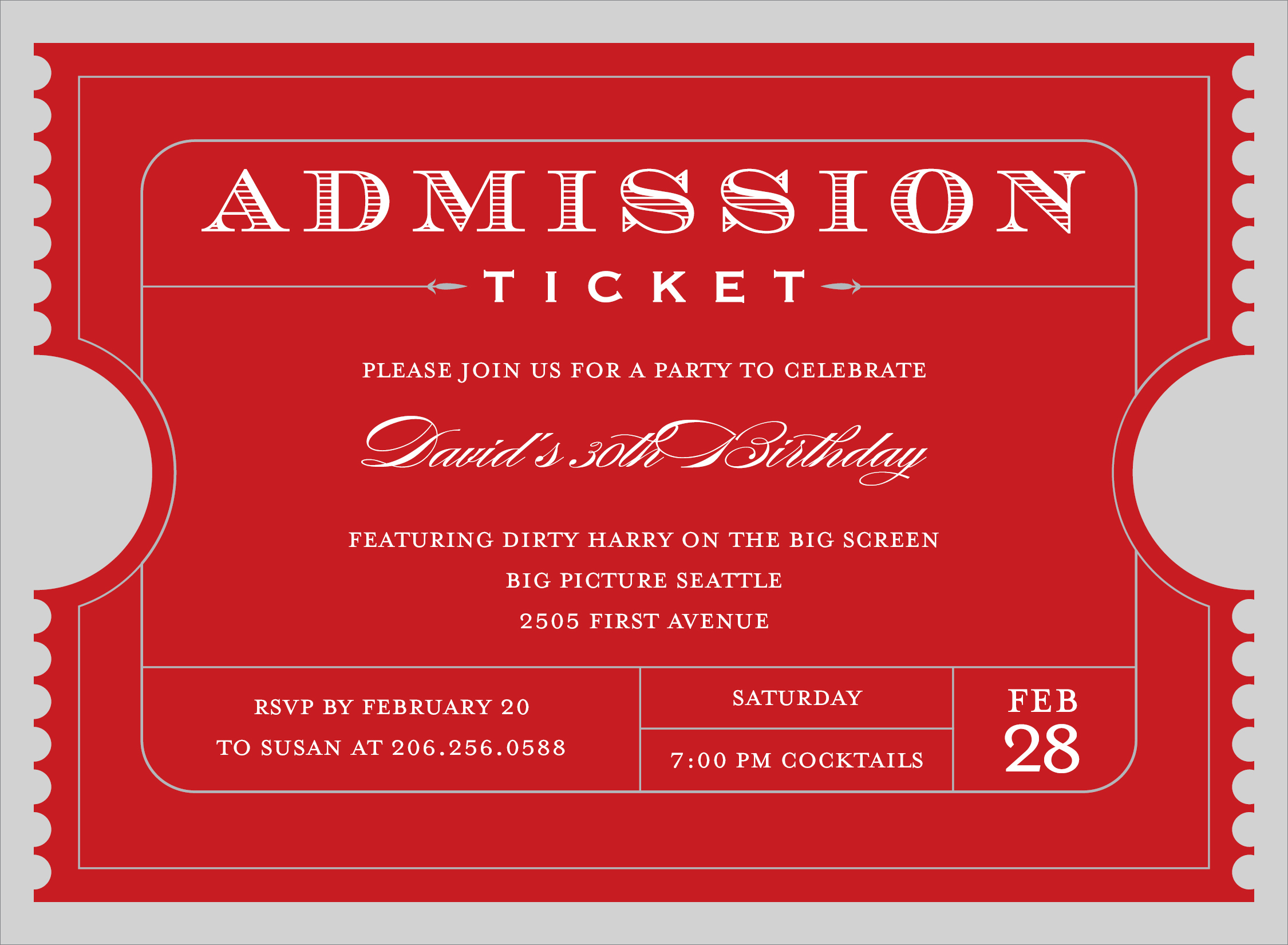 Doc22501650 Ticket Admission Template Admission Tickets – Admission Tickets Template