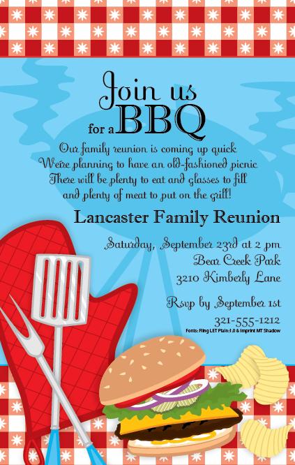bbq party invitation wording