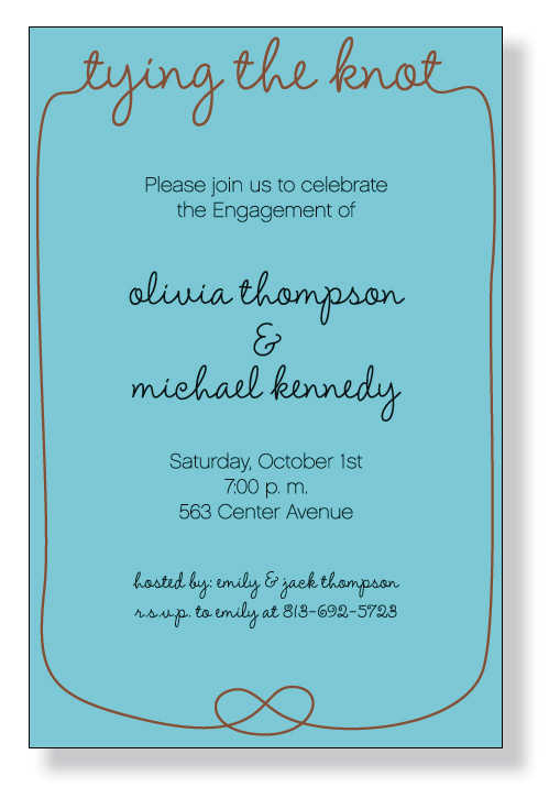 Holiday Wedding Invitations - how to word engagement party invitations