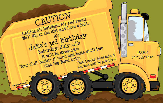 truck birthday party Happy birthday little man Pinterest - free birthday cards templates