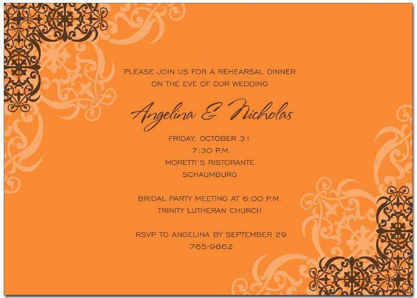 Autumn invitations - Autumn invitations for special events