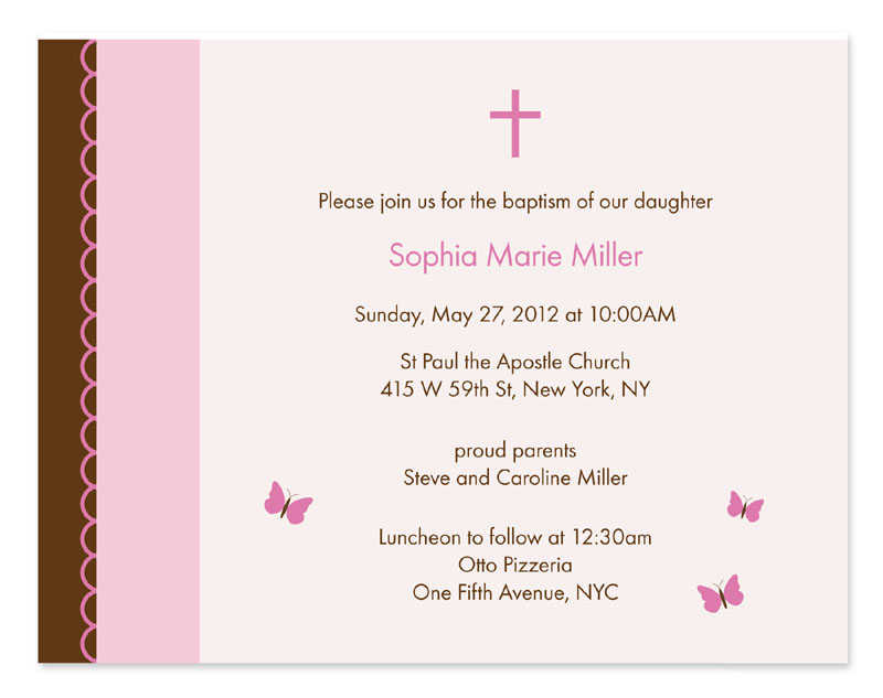How to write a baptism card