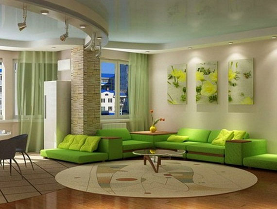 Green Living Room Design Ideas Decorations And Furniture - green living rooms