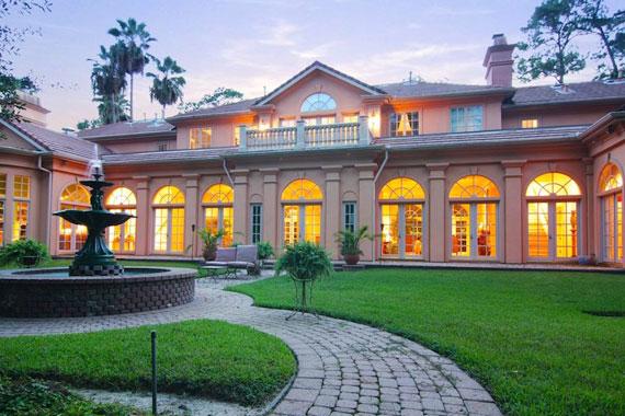 Mediterranean Architecture On Mansion In Houston, Texas