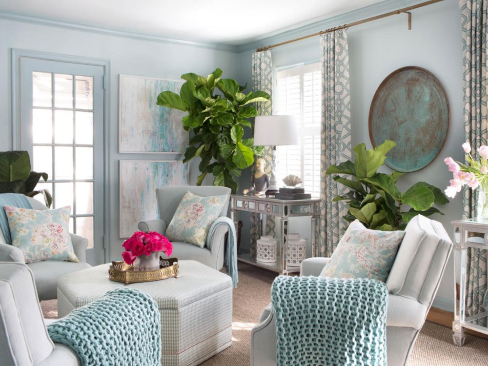 Ideas For Decorating The Living Room With Plants - redecorating living room