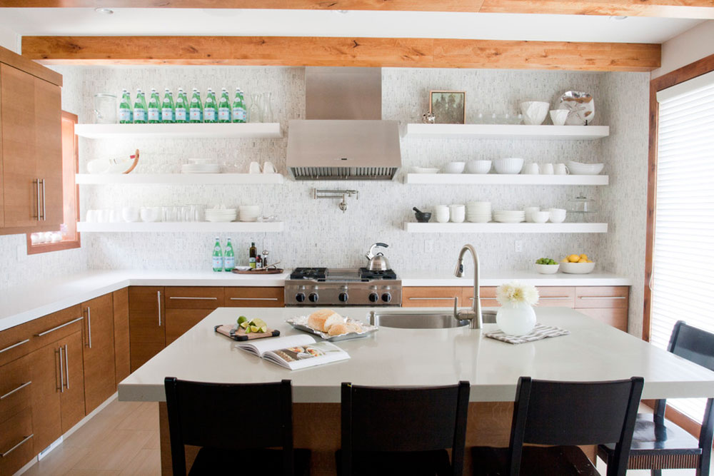 Open Kitchen Cabinets Are Easier To Handle - open kitchen shelving ideas