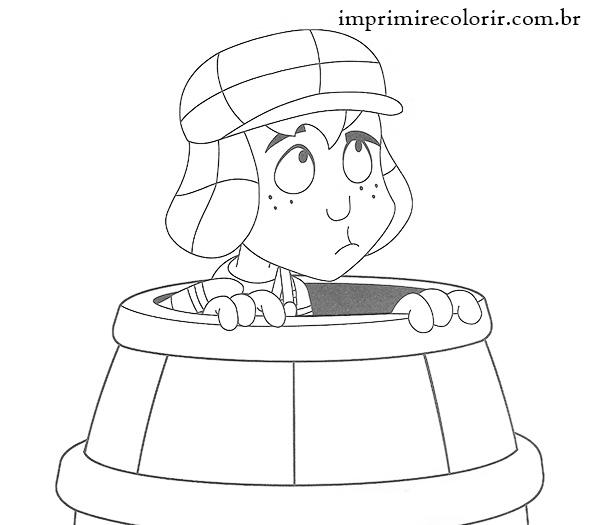 desenhos chaves no barril colorir e pintar