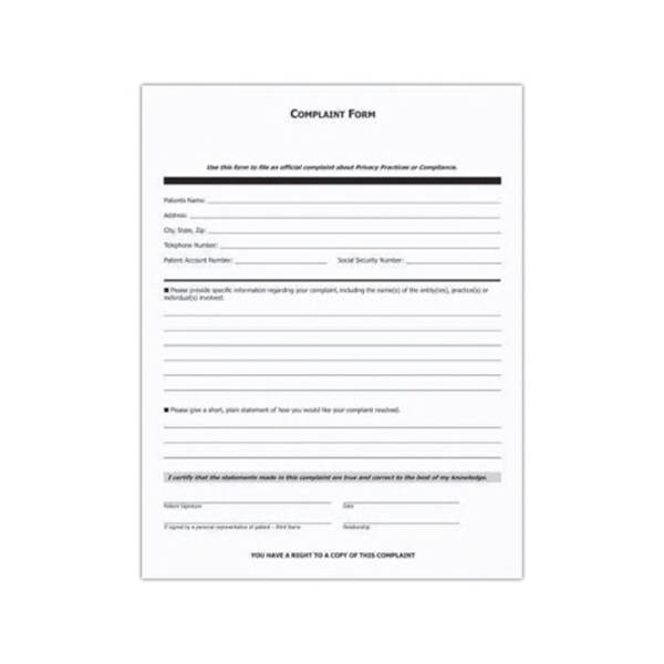 Hipaa Form Hipaa Forms And Policies St Louis Pediatric Associates - sample patient complaint form