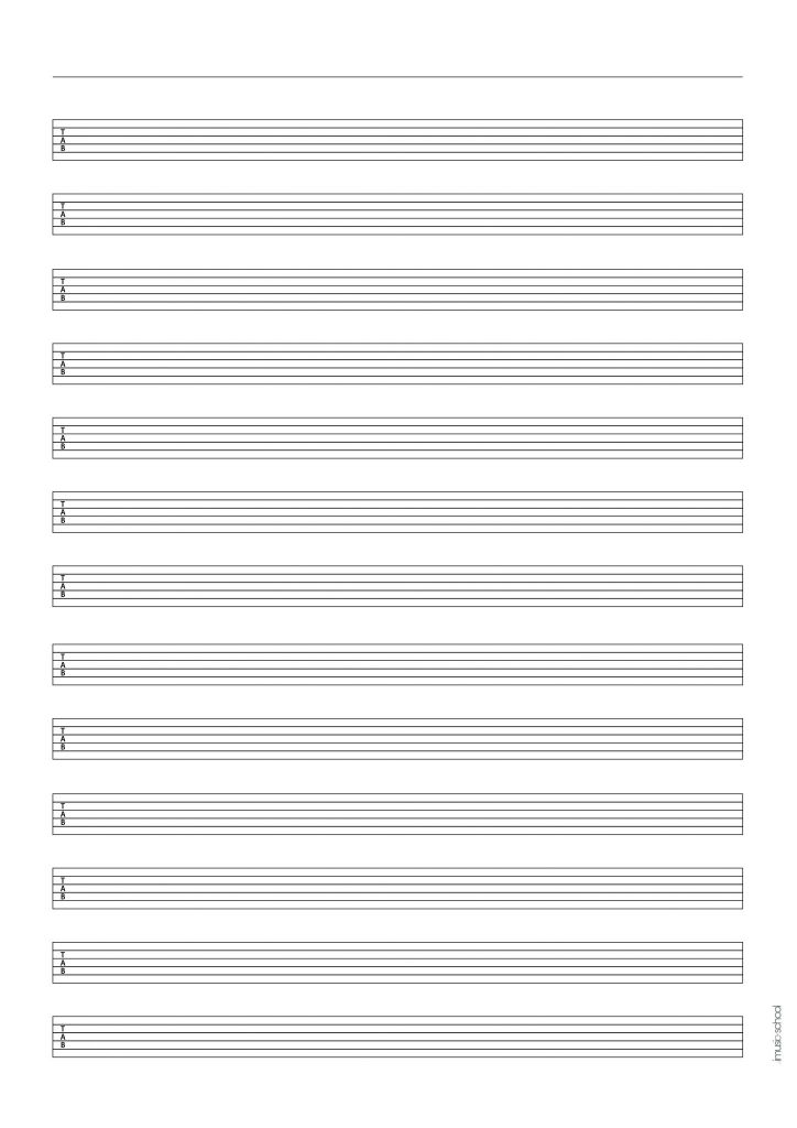 Music Paper - Music Sheet, Tablatures, Blank Chord Charts