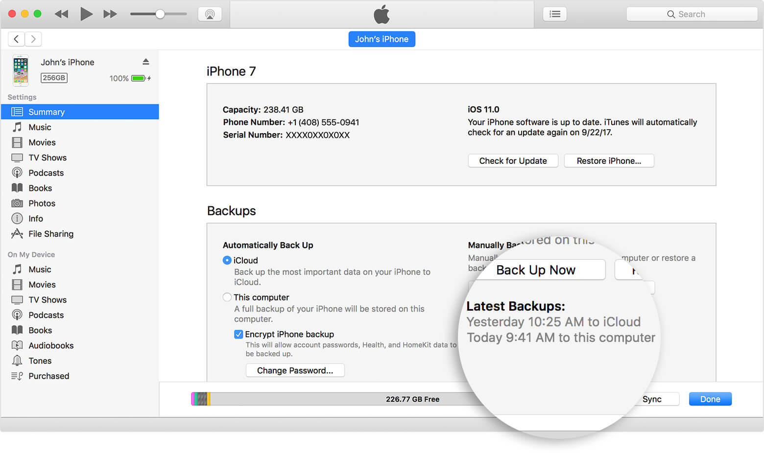 backup photos from iphone