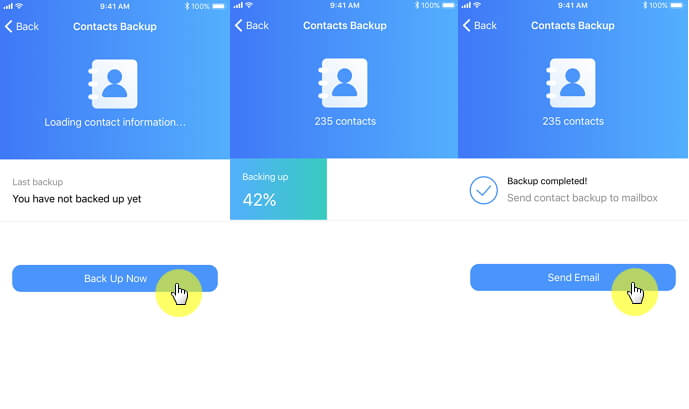 Free iPhone Contacts Backup App