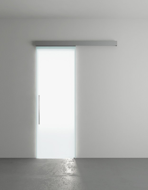 Porta scorrevole in vetro 76 x 215 (luce 70 x 210) - In-Door.it