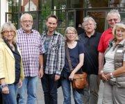 Foto: Hannelore Müller v.l.n.r.: Birgit Sterr, Dieter Krause, Oliver Steckel, Renate Bank, Bernd Grunwald, Werner Bonus, Ingeborg Wagner