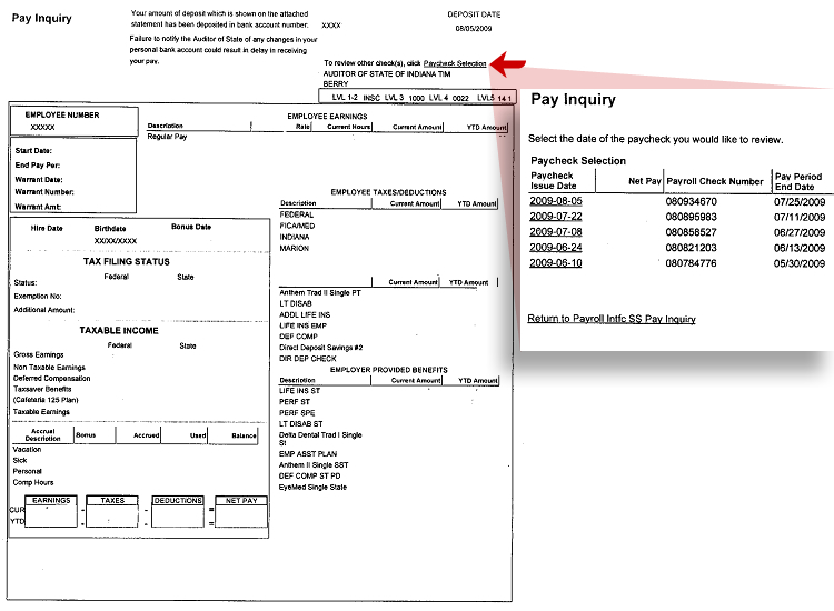 courtsINgov Instructions for Online Pay Stubs - Sample Paycheck Stubs