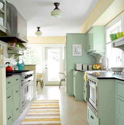Galley Kitchen Designs for Small Apartment In Seven Colors - galley kitchen design