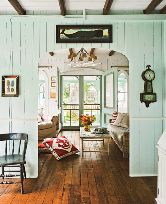 Nautical Cottage Decor Idea with Soft Blue Color at In