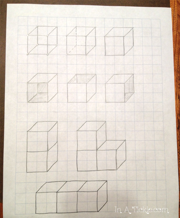 Drawing 3D Cubes Draw With Me Wednesday In A Tickle - 3d graph paper