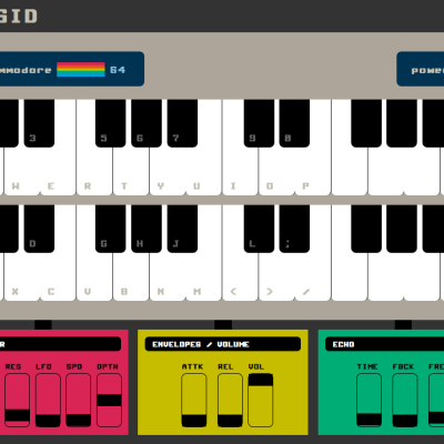 http://www.chromeexperiments.com/detail/websid-commodore-64-synthesizer/