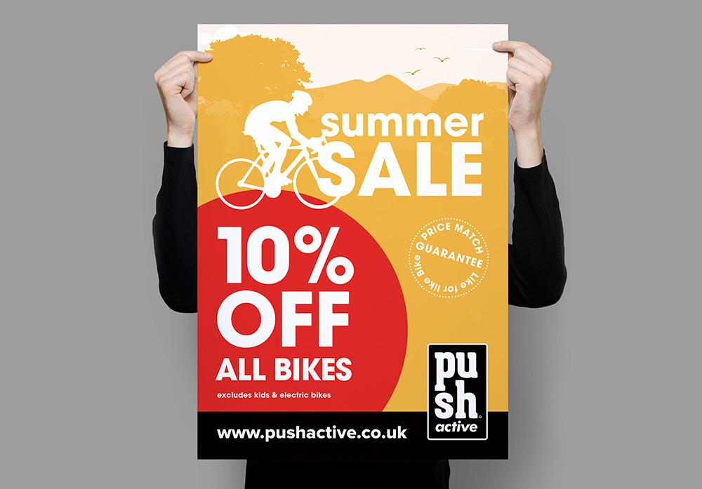 Push Active Summer Sale Poster - Inbox Creative