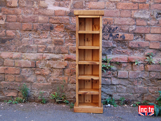 Plank Slim Compact Disc Storage Tower Handcrafted by Incite
