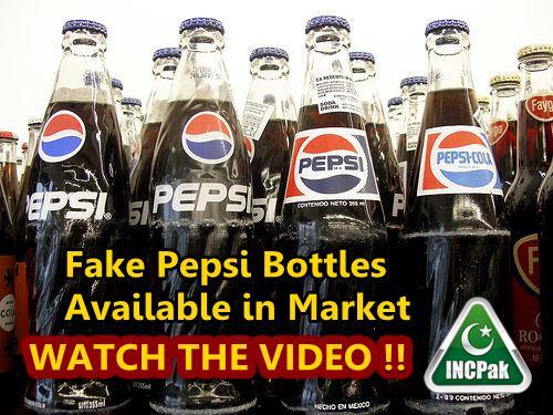 Fake Pepsi bottles