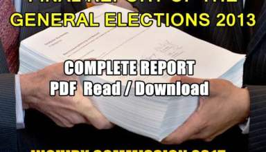 FINAL REPORT OF THE GENERAL ELECTIONS 2013