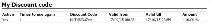 My Discount Codes - Google Chrome