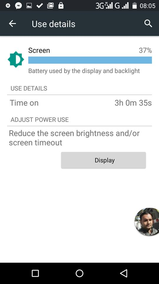 Infinix Hot 2 battery on screen time