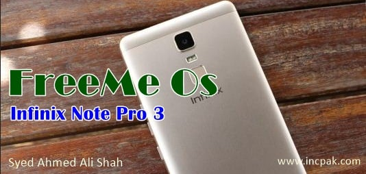 FreeMe Os for Infinix Note Pro 3