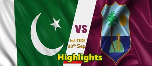 Pakistan vs West Indies 1st ODI Highlights