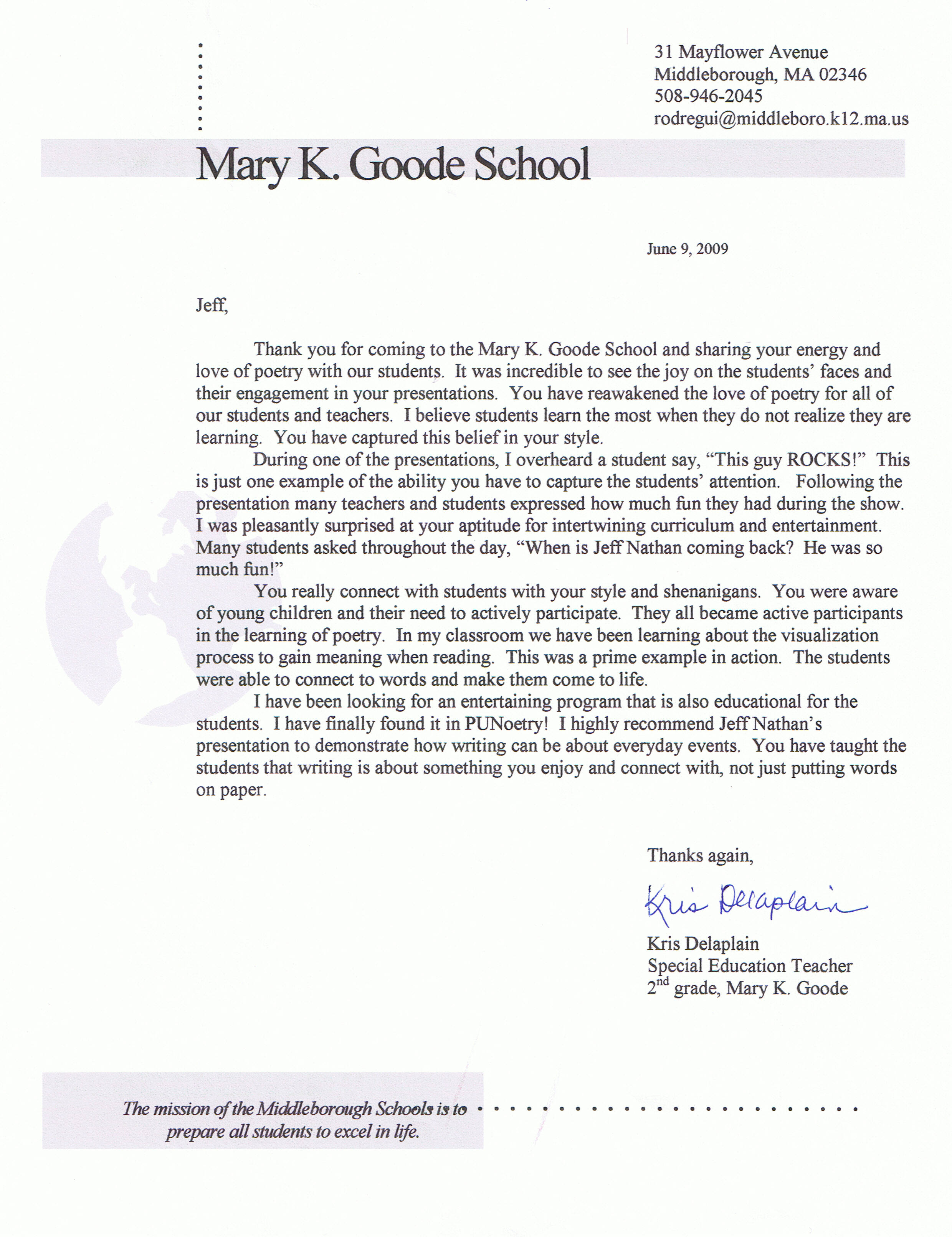 Reference Letter Kindergarten Teacher. Reference Letter ...