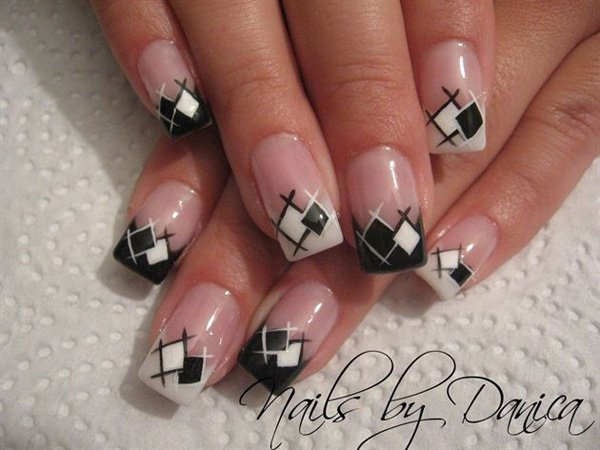 55 Creative Black And White Nail Art Examples Incredible