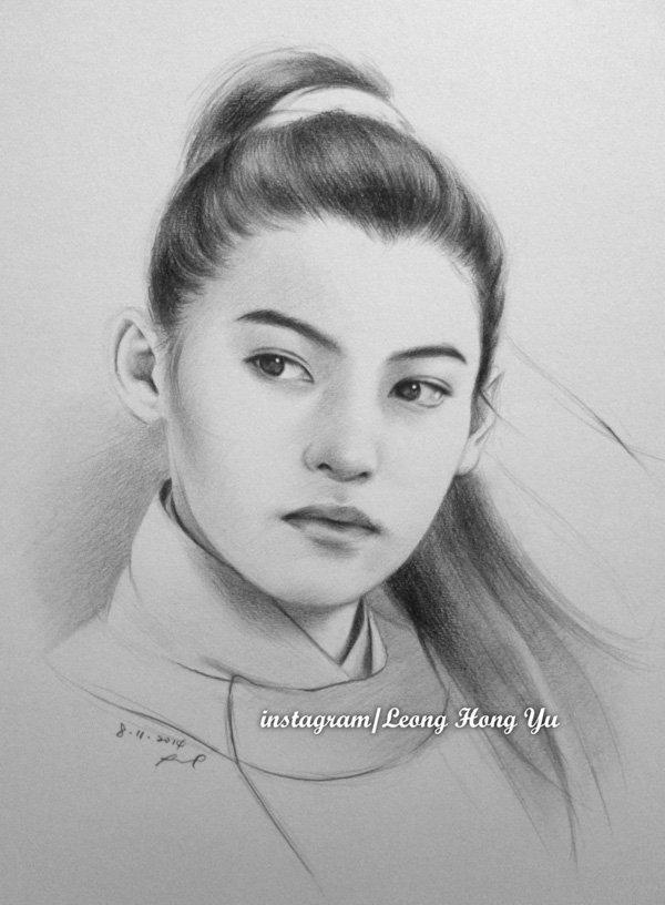 Sad Smile Girl Wallpaper Beautiful Pencil Drawings By Leong Hong Yu Incredible Snaps