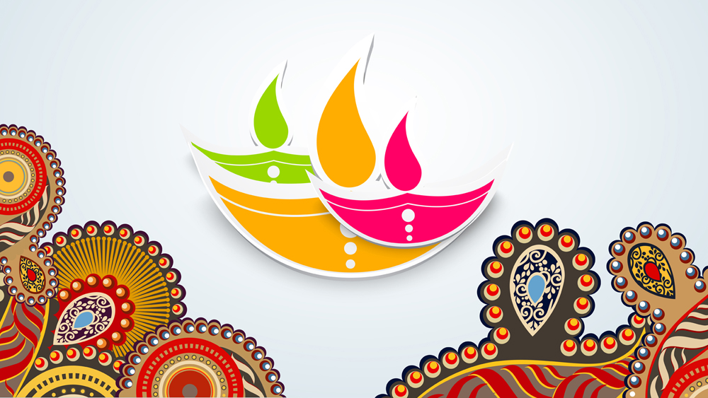 Animated Diwali Diya Wallpapers 30 Beautiful And Colorful Diwali Greeting Card Designs