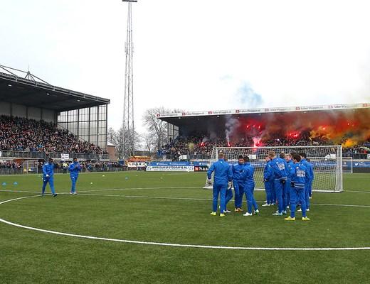 LEEUWARDEN, 14-02-2015, Cambuur stadion, laatste training SC Cambuur voor de derby tegen SC Heerenveen met bijna 6000 supporters op de tribunes ...  Foto: Cambuur.nl