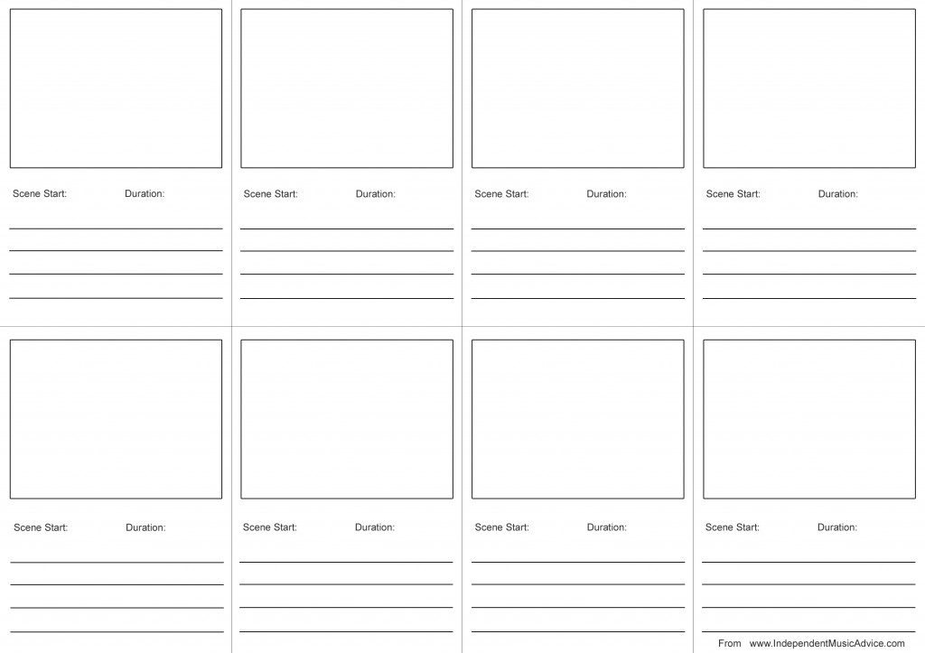 How To Create A Storyboard For Music Videos (With Template) - free storyboard templates
