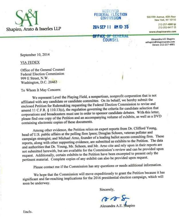 Shapiro Letter