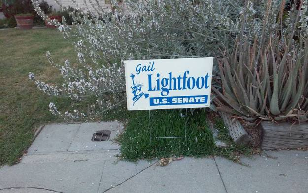 Vote Gail Lightfoot  sign