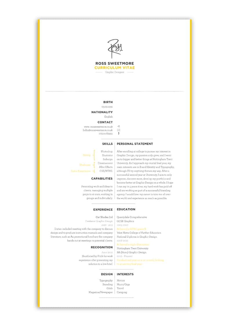 Convert Publisher Files To Indesign Files Using Pub2id Cv Design Inspiration 5 Ideas For Creative Resumes And Cvs