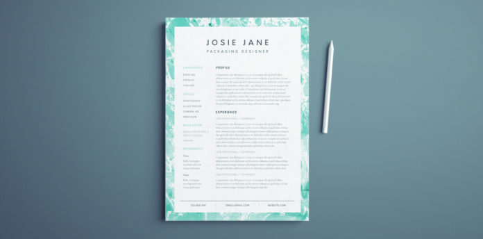 Creative Resume Template Free InDesign Templates - graphic design resume template