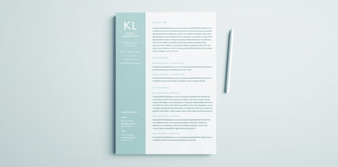 cv template download indesign