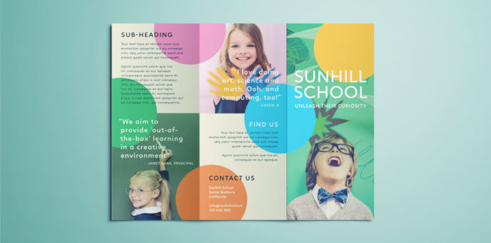 Colorful School Brochure - Tri Fold Template Download Free - Tri Fold Brochures Free