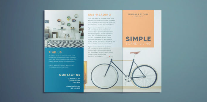 Simple Tri Fold Brochure Free InDesign Template - free indesign template